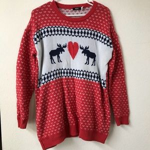 f93ac19c5 Women Moose Christmas Sweater on Poshmark